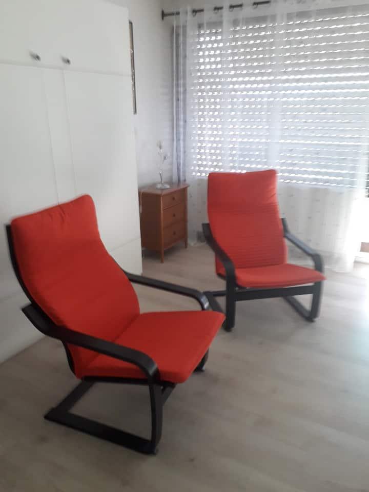 Joli Studio vue sur l'Adour + Terrasse + parking