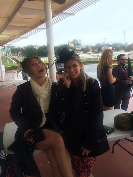 I'm on the left, at the races! Lots to do and see in Sydney!