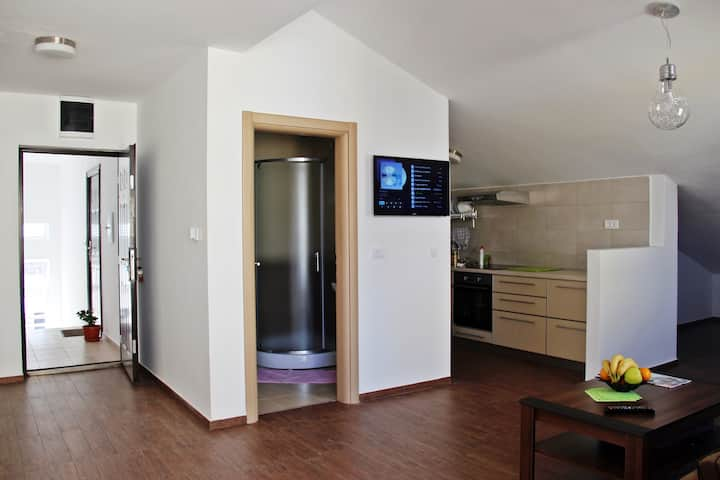 40m2 loft apartment in Budva centre