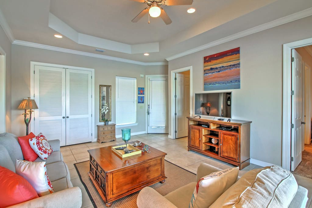 Step inside to discover a bright, inviting living area.