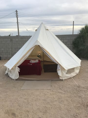 Queen Bed Glamping