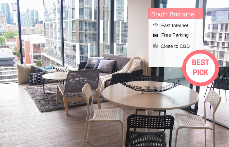 South Brisbane City View 2Bed APT + FREE Parking QSB0277