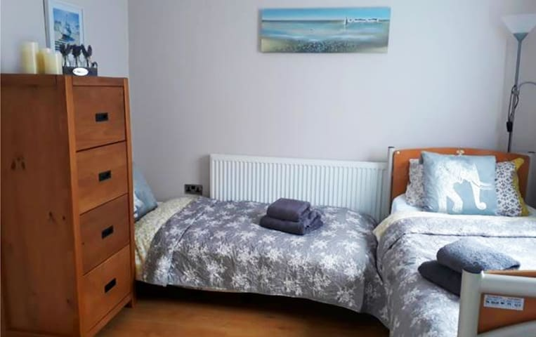 Two beds in accessible bedroom