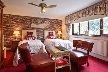 The Ruby Room (twin beds) - Halland - Bed & Breakfast