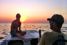 Enjoy a sunset boat ride, wine and cheese anyone?