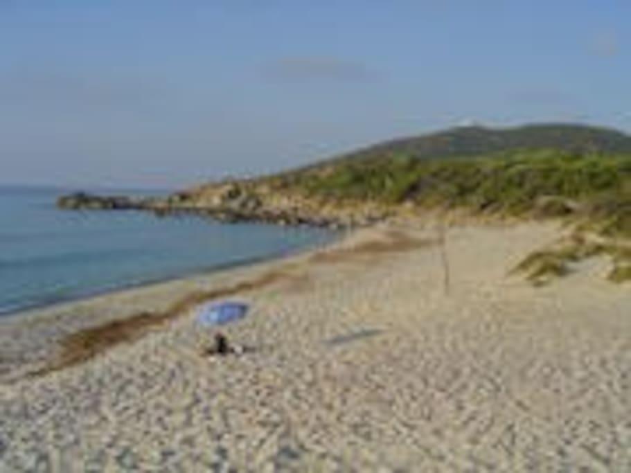 plage de sable fin a 200 m de la résidence
