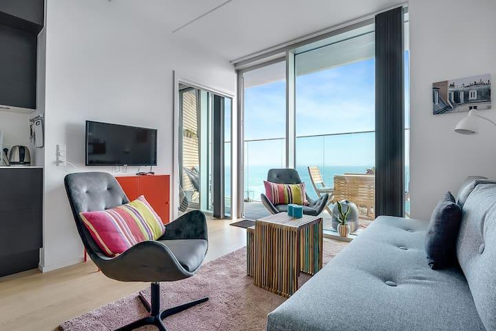 Århus Ø, ny lejlighed på 8. sal med suveræn udsigt