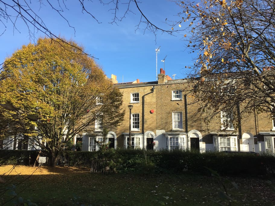 View of house in centre of Georgian terrace - 5 mins walk to Royal Harbour