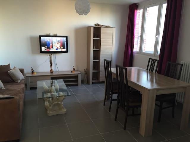 Appartment rénovates 3 room carpark - Amiens - Apartment