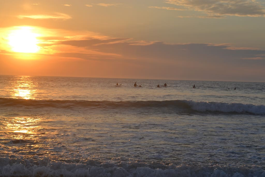 Gorgeous beach sunsets and optional surfing!