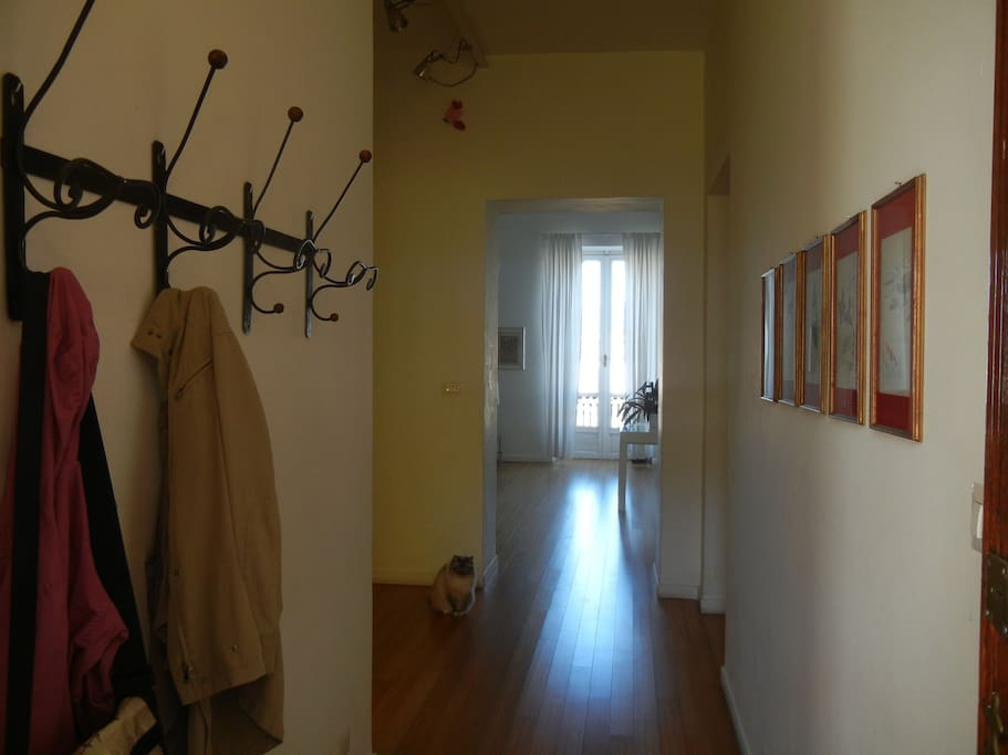 Il corridoio d'ingresso entrando.