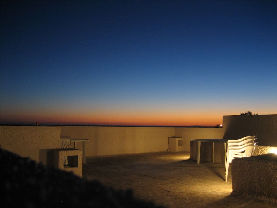 tramonto in terrazza - sunset from the terrace