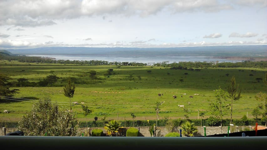 Penthouse with view of Lake Nakuru National Park