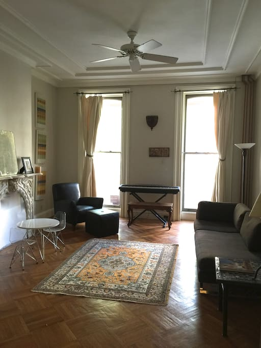 Living room on parlor level