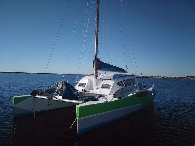 Catamaran haut en couleurs ! - Mahon