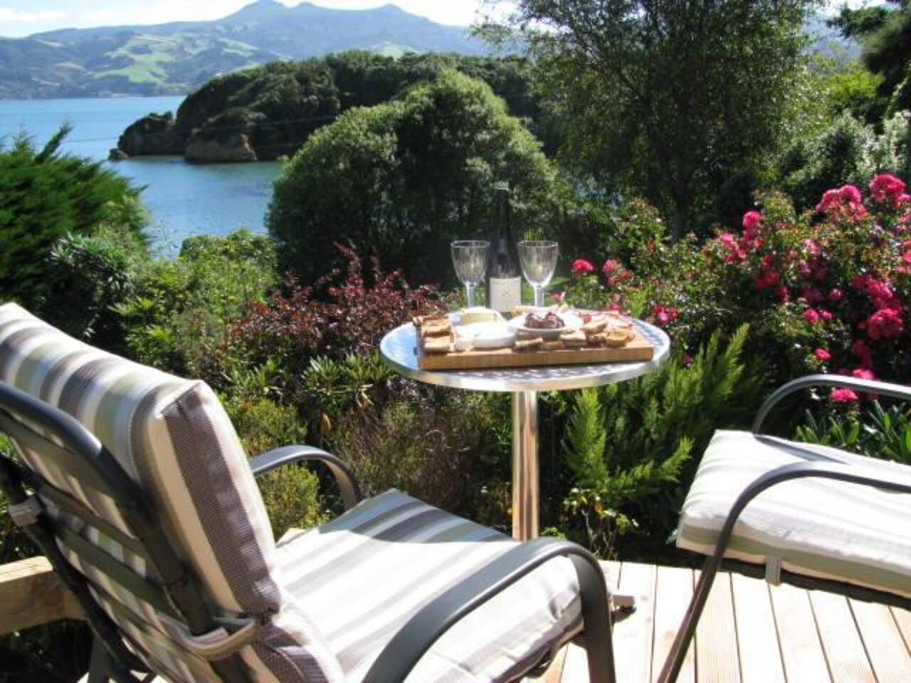 Sunny private deck