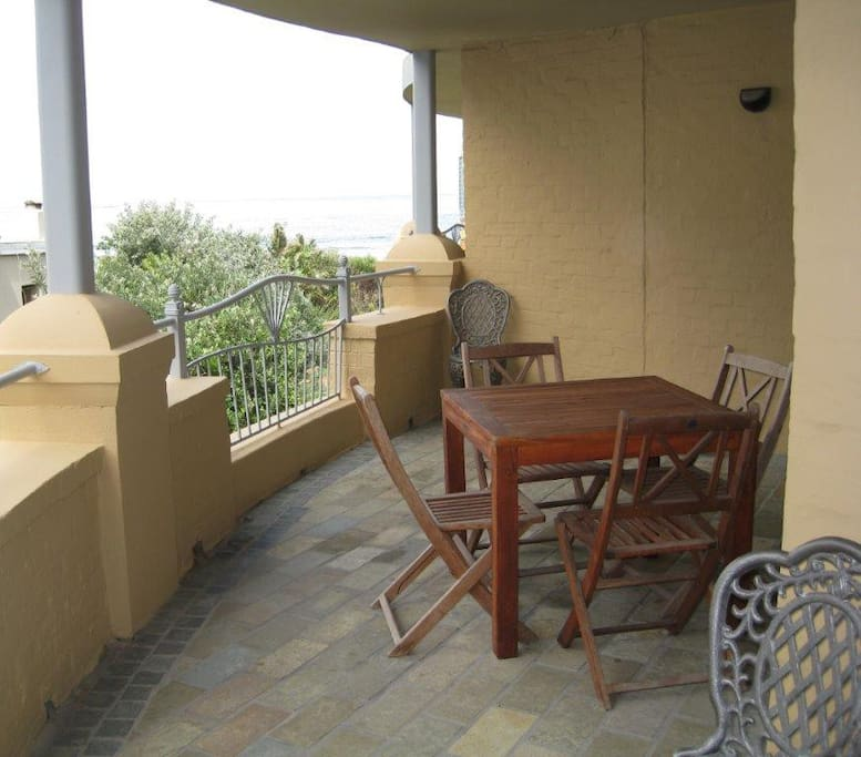 Spacious balcony with barbeque
