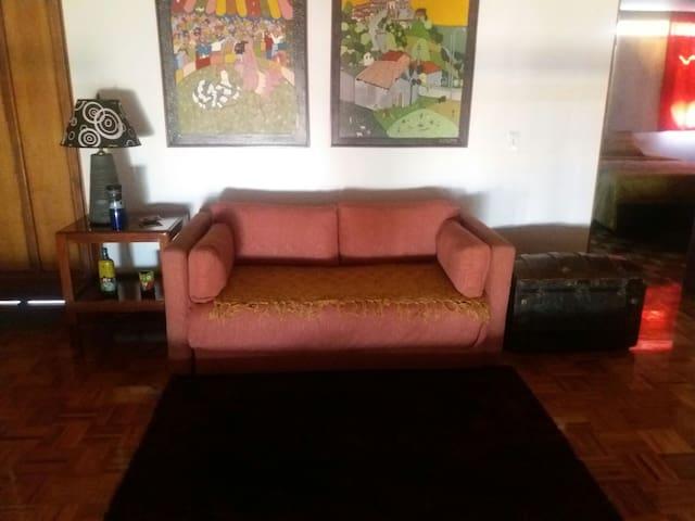 espacio del sofa cama