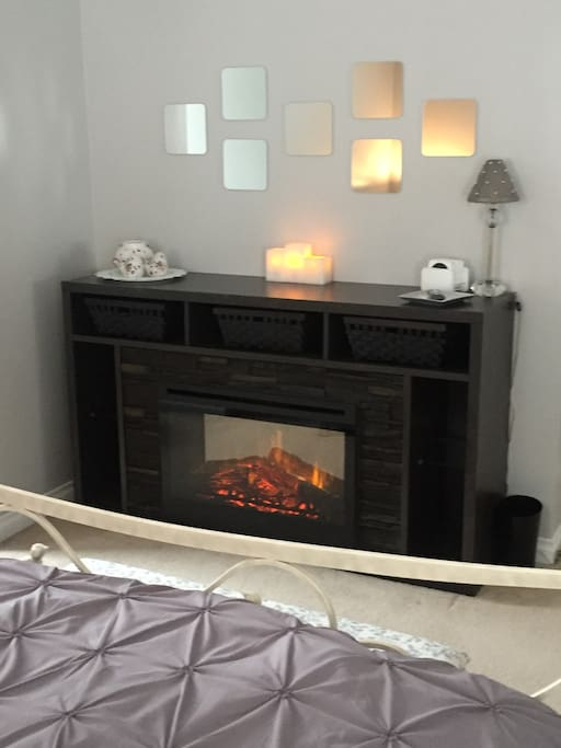 Fireplace in Grey Tide Room