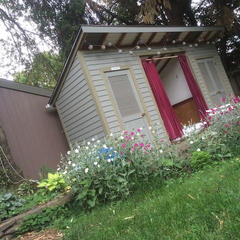 Super Cute Private Backyard Cabana