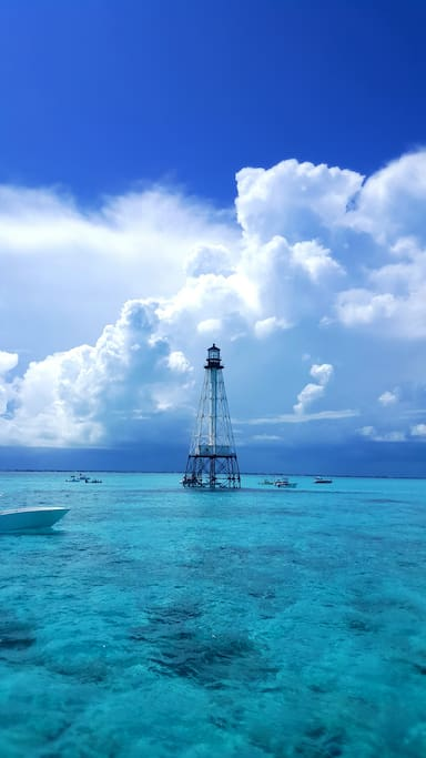 The crystal clear waters beneath Alligator Lighthouse!