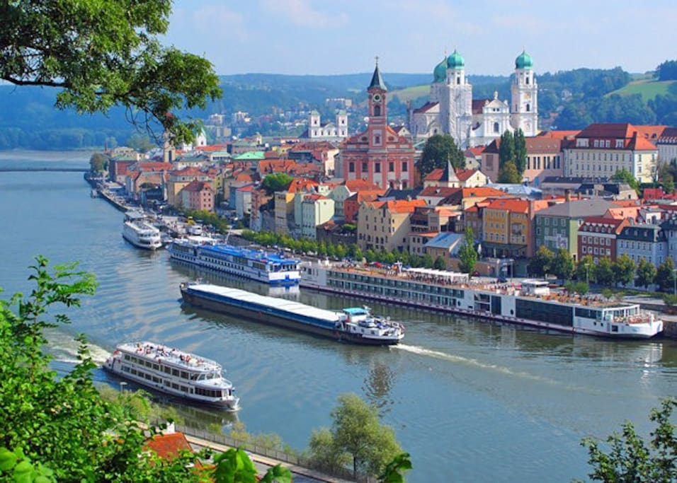 you will stay in the very heart of amazing passau, 10 minute walk to where the three rivers meet!