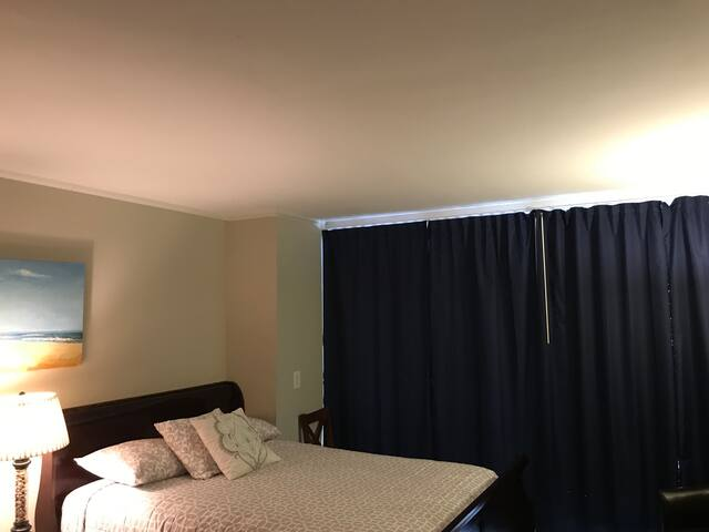 New full Black Out Curtains. For your afternoon nap or sleeping in.