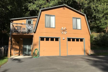 Nestled in the Redwoods with central location