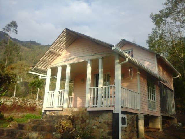 Acogedora cabaña en madera & jardín - Choachí - Kabin