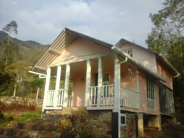 Acogedora cabaña en madera & jardín - Choachí - Hytte