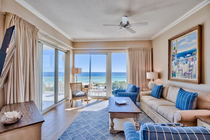 GULF FRONT CONDO WITH SWEEPING VIEWS AND HEATED POOL!