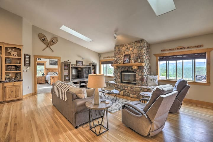 NEW! Upscale Mountain-View Manor w/ Deluxe Deck!