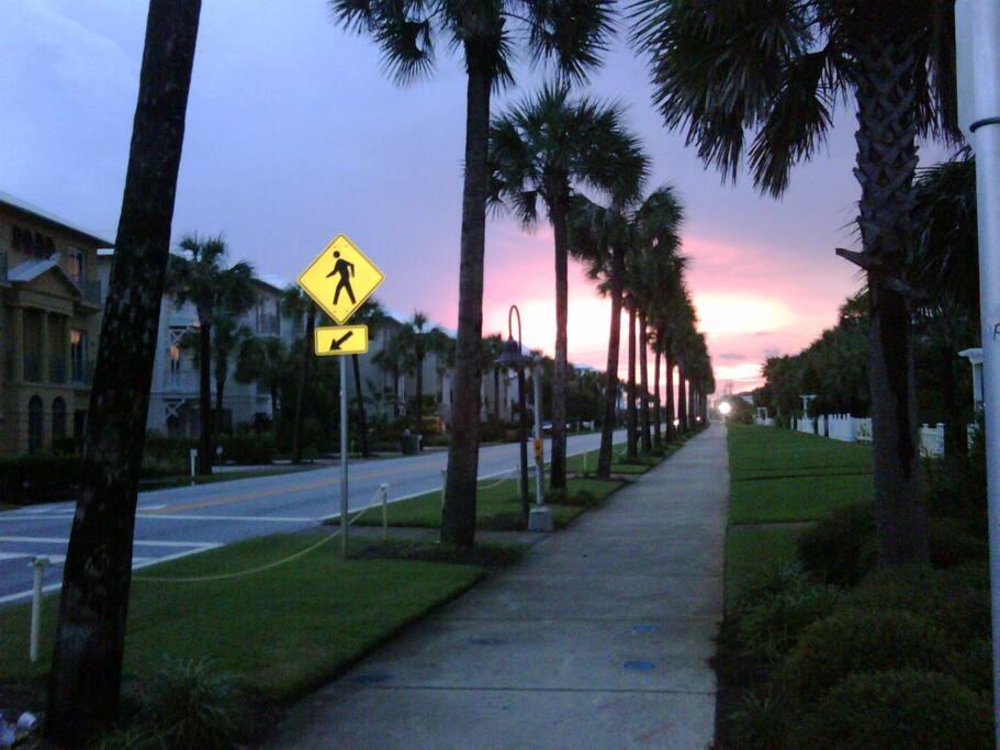 Sunset on the Beach Road near The Beach Bully