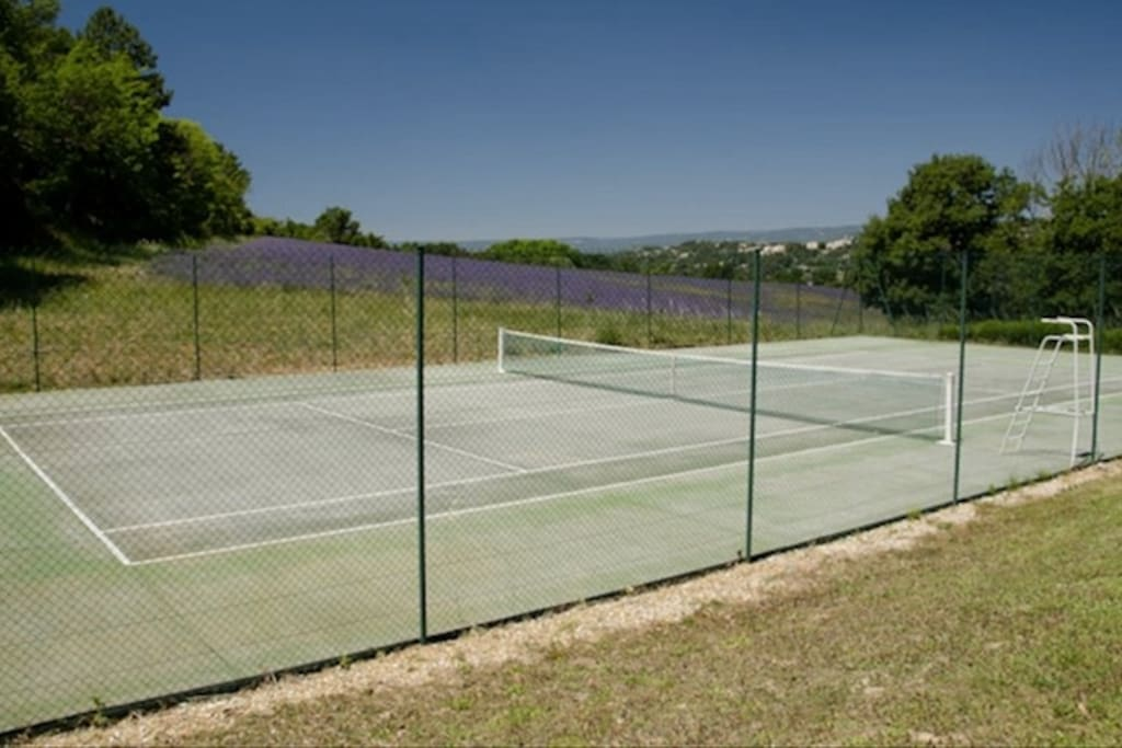 Tennis court  on property