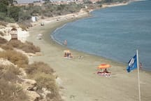 Faros blue flag beach