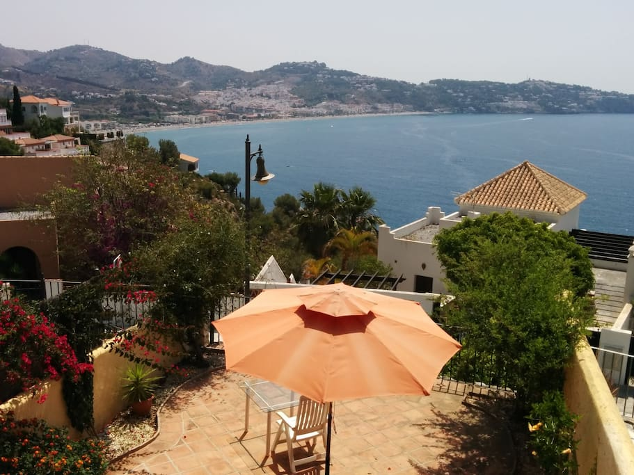 la terraza y sus vistas