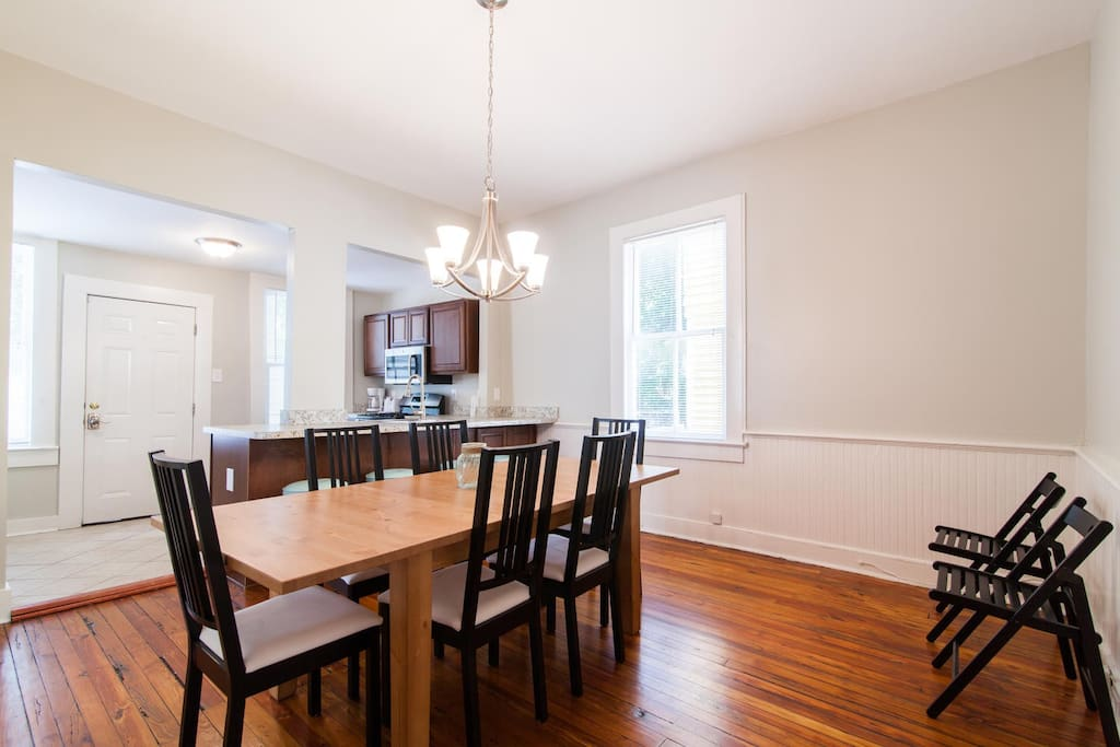 HUGE dining room with extendable table and extra chairs to seat up to 10