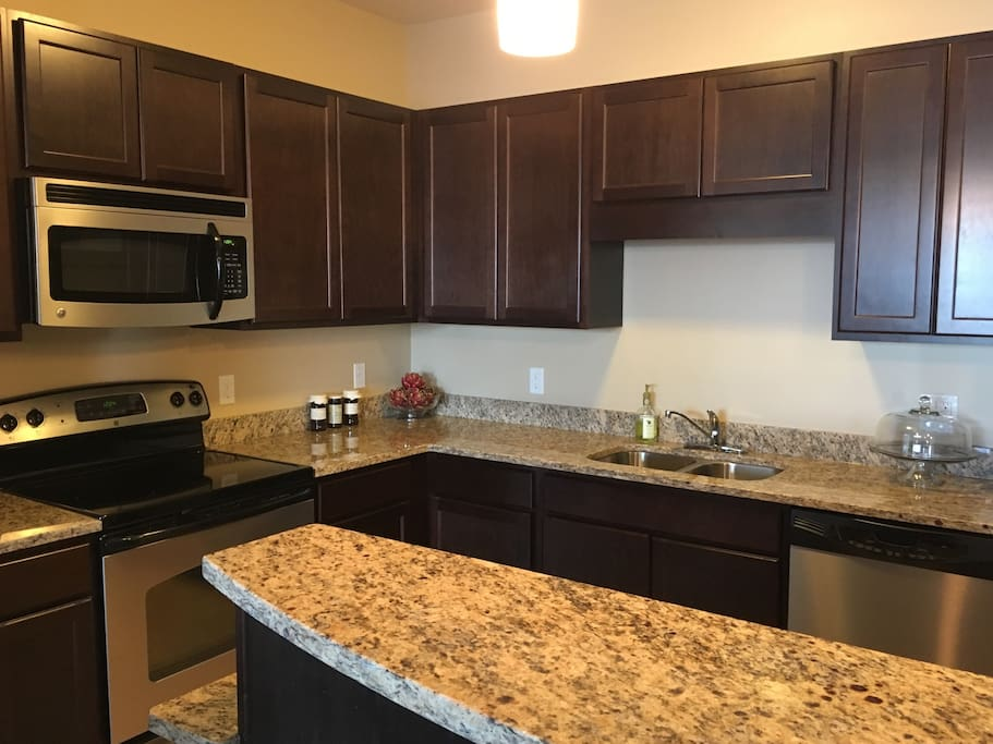 Fully equipped kitchen with plenty of counter space.