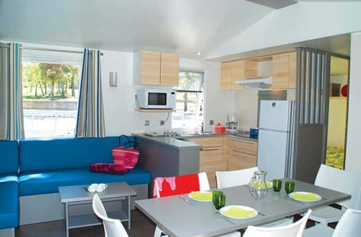 Mobil home 6 pers Camping 4* Spa