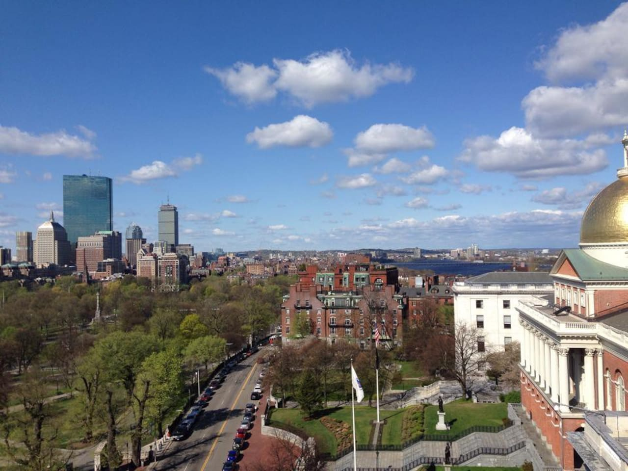Beautiful roof deck overlooking the Boston Common and Charles River!