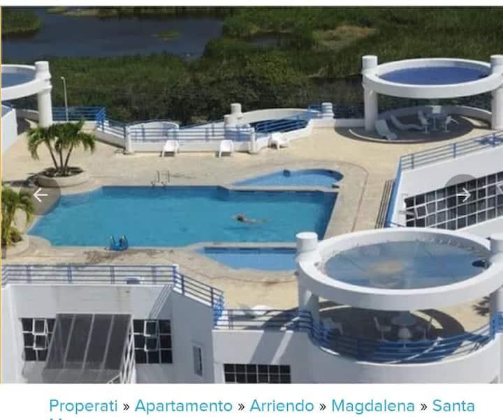 Espectacular Apartamento con vista y cerca al mar