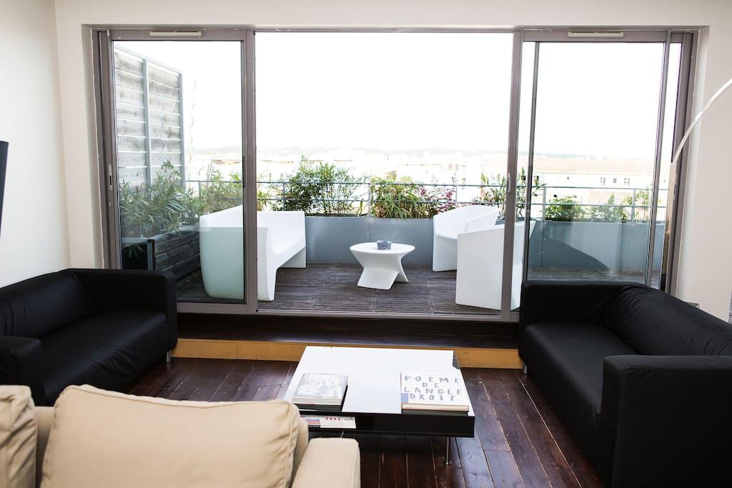 Appartement avec terrasse appartements louer for Location bordeaux terrasse