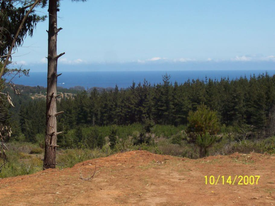 View of ocean from neighboring parcel