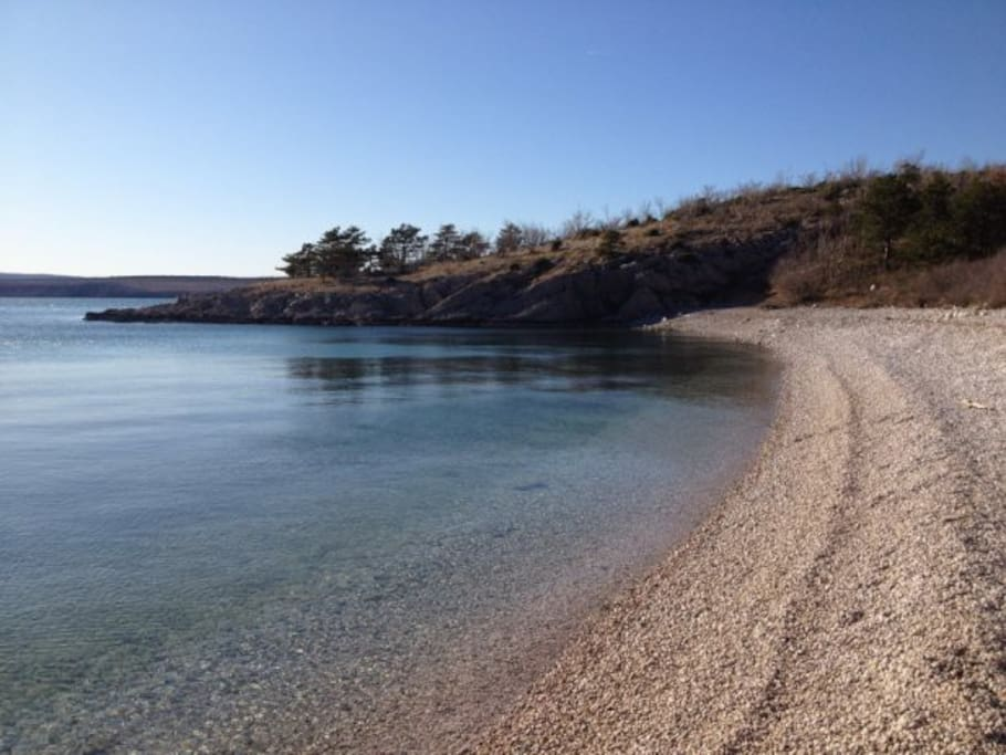 Beach Havišće..5 min walking(steps)