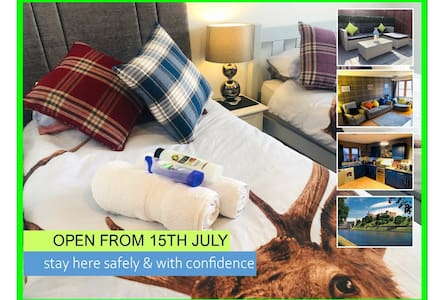 OPEN: Modern House, Twin Room - Inverness 5min