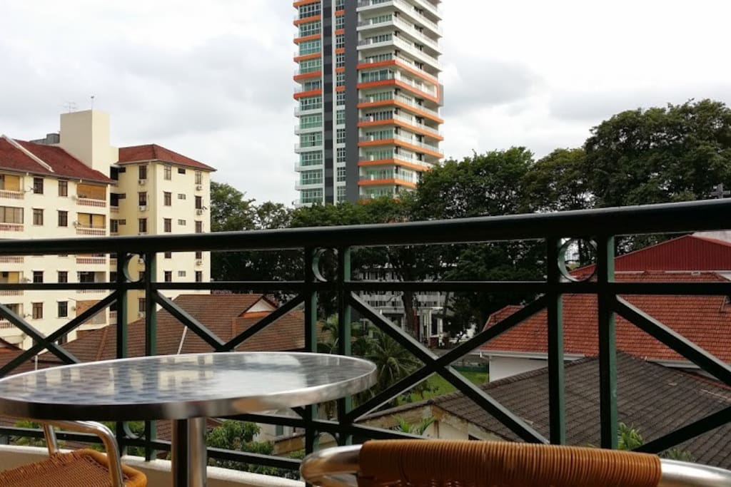 Apartment's own balcony for city pleasant view.