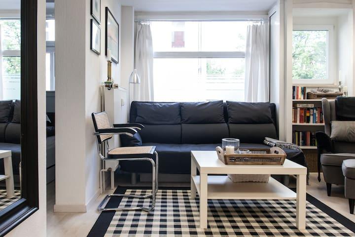 Kleine, zentrale Wohnung m.Terrasse - Leipzig - Apartment