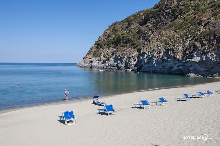 La più vicina spiaggia, San Francesco a pochi minuti a piedi