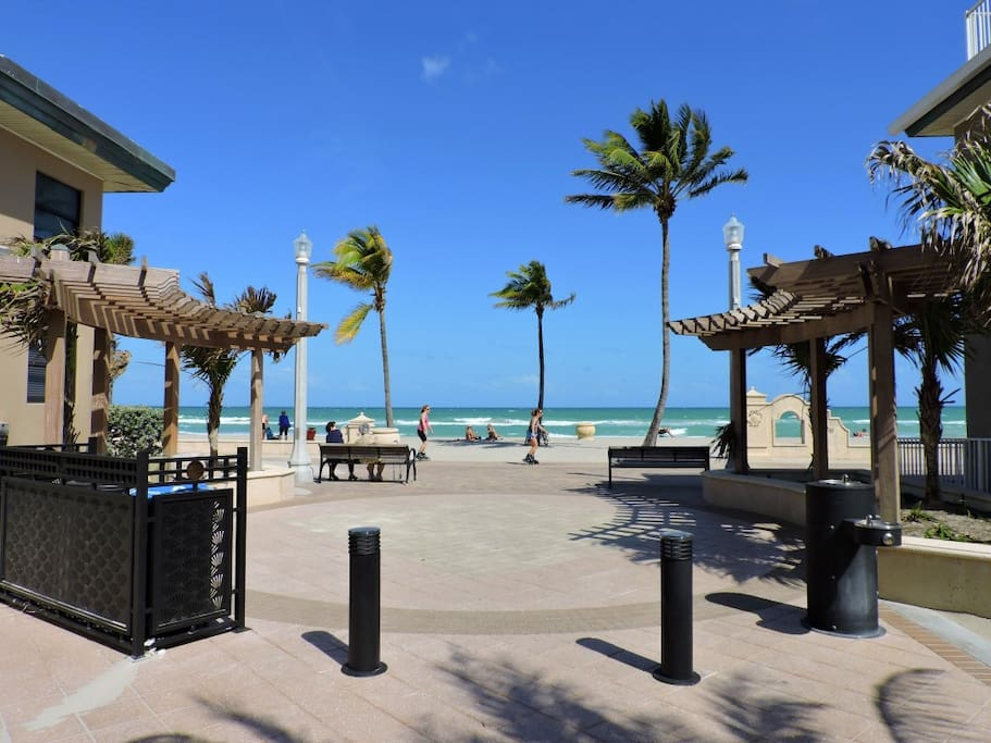Stunning Hollywood Beach and Boardwalk goes for miles at your doorstep.