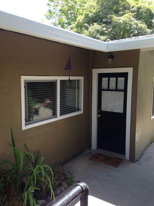 Front door of the cottage.